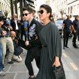 """Nick Jonas et sa femme Priyanka Chopra arrivent à l'hôtel Costes après le défilé de mode Haute-Couture automne-hiver 2019/2020 """"Christian Dior"""" à Paris le 1er juillet 2019."""