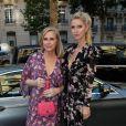 """Nicky Hilton Rotschild et sa mère Kathy Hilton arrivent à la soirée de lancement du parfum """"7 lovers"""" de Carine Roitfeld à l'hôtel Peninsula de Paris, France, le 1er juillet 2019. © Veeren-Clovis/Bestimage"""