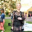 Anne Heche assiste aux défilés de la fashion week à Berlin, le 2 juillet 2019.