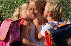 Elodie Gossuin : Tendre photo avec Joséphine et Léonard, une page se tourne