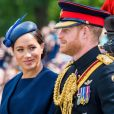 Le prince Harry et Meghan Markle, duchesse de Sussex, lors de la parade Trooping the Colour à Londres le 8 juin 2019.