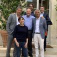 Véronique Morali et Cédric Siré, dirigeants de Webedia, Marc Ladreit de Lacharrière, président du groupe Fimalac en compagnie de Michel et Franck Cymes, créateurs de Dr Good - à Paris en juillet 2019.