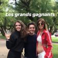 Alexandra Rosenfeld enceinte dévoile son baby bump au côté de Martin Weill et une amie, lundi 10 juillet 2019