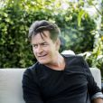 "Charlie Sheen pendant un interview à Stockholm pour son show ""An evening with Charlie Sheen"" le 15 juin 2016."