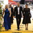 """Le prince Harry, duc de Sussex, et Meghan Markle, duchesse de Sussex, à la première du film """"Le Roi Lion"""" au cinéma Odeon Luxe Leicester Square à Londres, le 14 juillet 2019"""