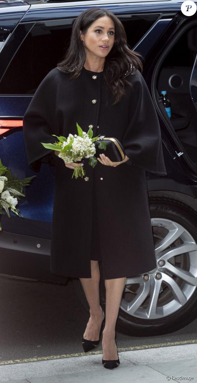 Meghan Markle, duchesse de Sussex, - Le duc et la duchesse de Sussex viennent signer le livre des condoléances à New Zealand House à Londres en hommage aux victimes de la tuerie de Christchurch. Londres, le 19 mars 2019.