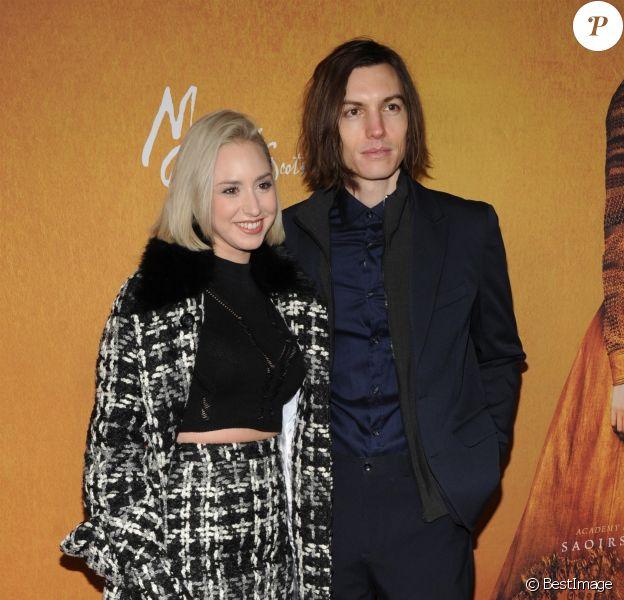 """Jazmin Grace Grimaldi et son compagnon Ian Mellencamp - Avant-première du film """"Mary Queen of Scots"""" au """"Paris Theatre"""" à New York, le 4 décembre 2018."""