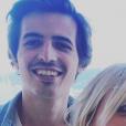 Flavie Flament et son fils Antoine en vacances, le 12 juillet 2019