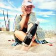 Flavie Flament radieuse à la plage, le 17 juillet 2019
