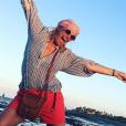 Flavie Flament s'éclate en vacances, le 9 juillet 2019