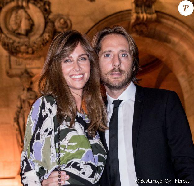Ophélie Meunier et son mari Mathieu Vergne lors de la soirée du 70ème anniversaire de Longchamp à l'Opéra Garnier à Paris, France, le 11 septembre 2018. © Cyril Moreau/Bestimage
