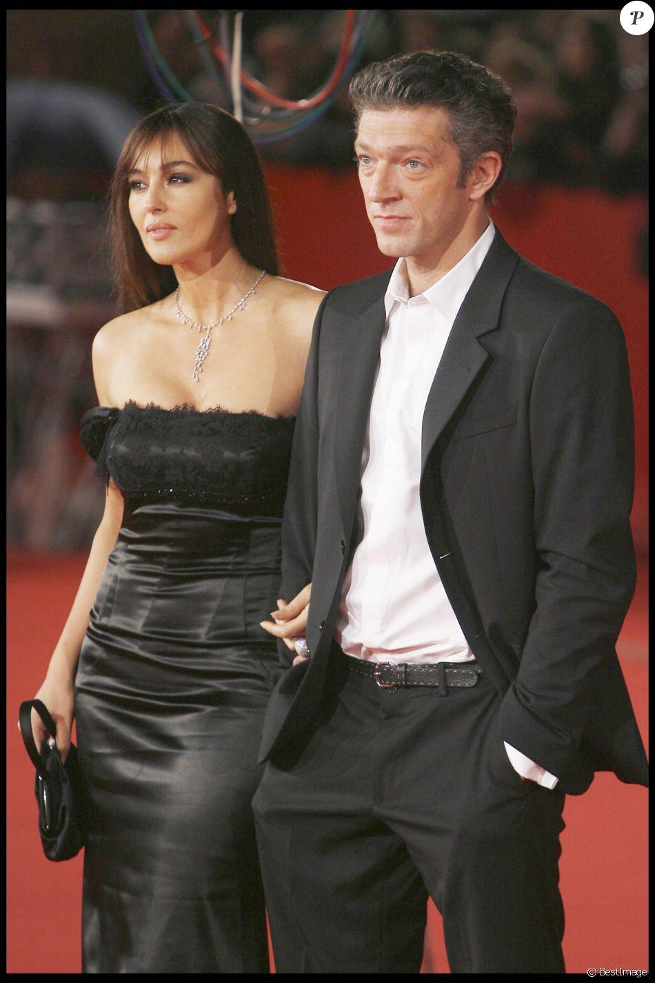 Vincent Cassel et Monica Bellucci à Rome le 23 octobre 2008