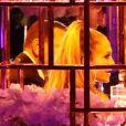 Jennifer Lopez fête son anniversaire (50 ans) en compagnie de son fiancé Alex Rodriguez, sa famille et ses amis dans le quartier de Star Island, située sur l'île artificielle de Biscayne Bay à Miami. Un feu d'artifice époustouflant a illuminé toute la soirée et des passants et des fans ont profité de l'occasion pour prendre des photos. Le 24 juillet 2019.