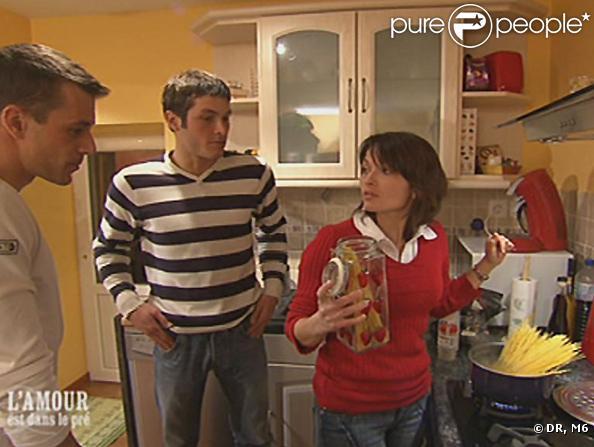 Corinne de l'Amour est dans le pré, ici avec Mathieu et Bruno... Aimable est son second prénom.