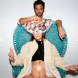 """Benoît Michel, acteur de """"Clem"""" (TF1), annonce la grossesse de sa compagne Justine Lautrette sur Instagram le 31 juillet 2019."""