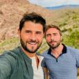 Christophe Beaugrand et son mari Ghislain en vacances à Las Vegas, en juillet 2019.