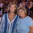 Exclusif - Sophie Cluzel (secrétaire d'État chargée des Personnes handicapées), Jacqueline Franjou (présidente du Festival de Ramatuelle) - Concert de Marc Lavoine pour l'ouverture du Festival de Ramatuelle, le 1er août 2019