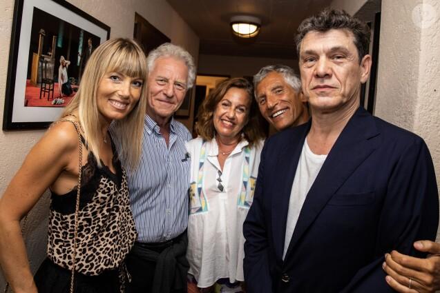Exclusif - Mélanie Page, Robert Namias et sa femme Anne Barrère, Nagui et Marc Lavoine - Concert de Marc Lavoine pour l'ouverture du Festival de Ramatuelle, le 1er août 2019