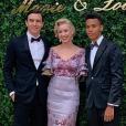 Jazmin Grace Grimaldi avec son petit ami Ian Mellencamp et son frère Alexandre Coste, au mariage de son cousin Louis Ducruet. Les 26 et 27 juillet 2019.