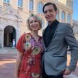 Jazmin Grace Grimaldi avec son petit ami Ian Mellencamp au mariage de son cousin Louis Ducruet. Les 26 et 27 juillet 2019.