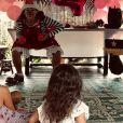 L'animateur Arthur dévoile une photo de l'anniversaire de sa fille Manava. Elle fête ses 4 ans. Août 2019.