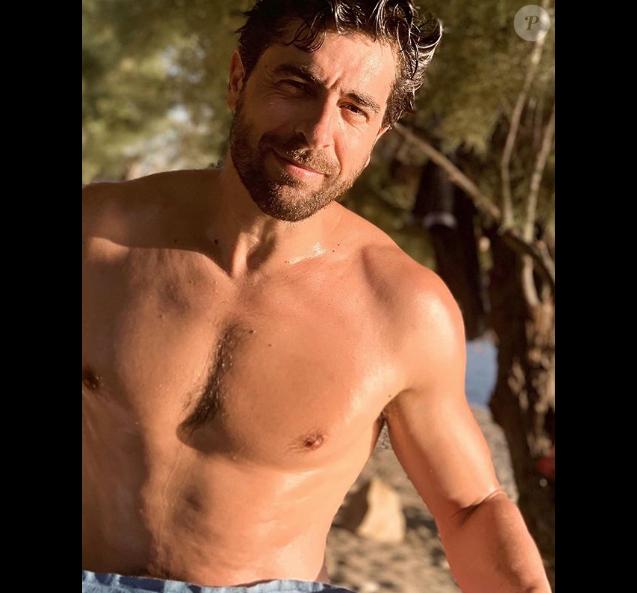 Agustin Galiana en vacances à Villajoyosa en Espagne, le 01 août 2019.