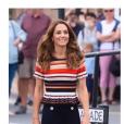 Kate Middleton habillée d'un top Sandro pour la King's Cup, le 8 août 2019.