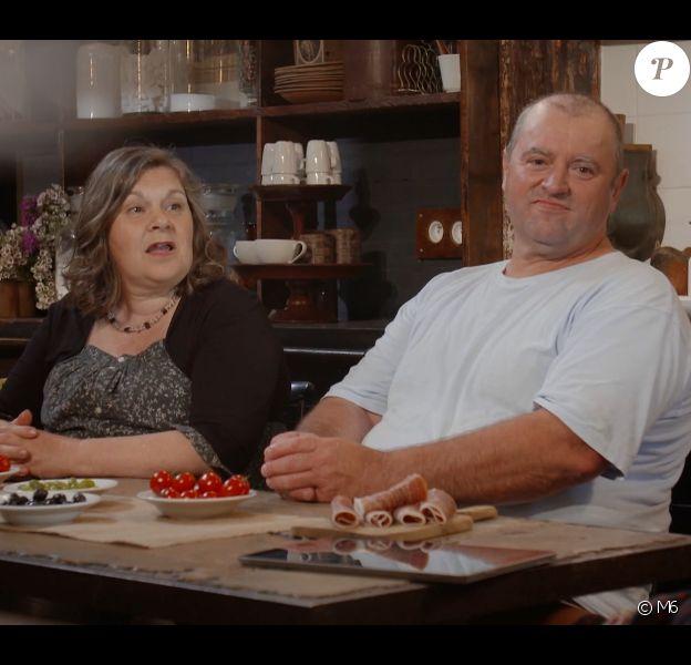 """Françoise et Jean-Marc de """"L'amour est dans le pré"""" dans """"Que sont-ils devenus ?"""" sur M6. Août 2019."""
