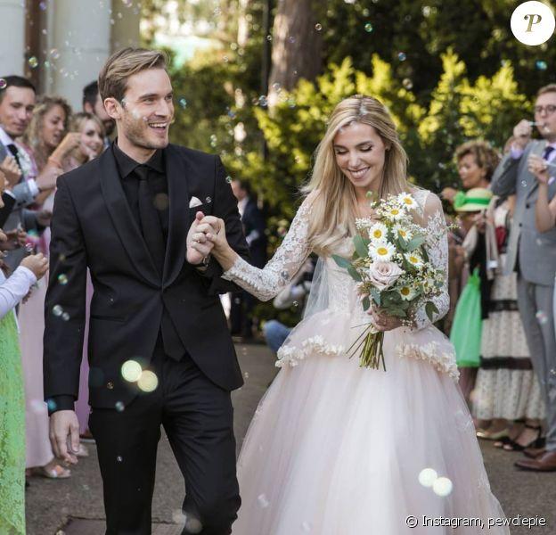 Pewdiepie et son épouse, Marzia Bisognin, sur Instagram.