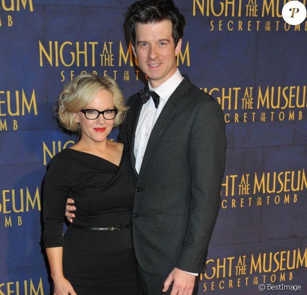 """Rachael Harris et Christian Hebel - Première du film """"Une Nuit au Musée : le secret des Pharaons"""" à New York le 11 décembre 2014."""