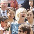 Flavie Flament ravie du bonheur de son amie au mariage de Laurence Ferrari et Renaud Capuçon le 3 juillet 2009