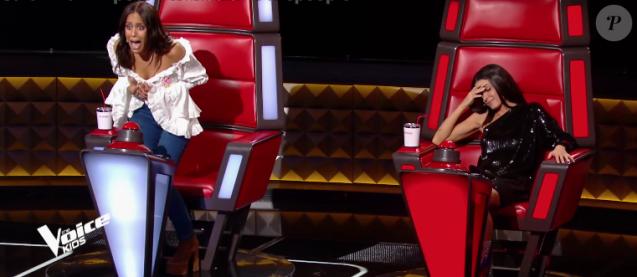"""Amel Bent et Jenifer - """"The Voice Kids 2019"""", le 6 septembre 2019 sur TF1."""