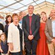 Le prince William, duc de Cambridge, visite le centre social des pompiers Harcombe House à Chudleigh dans le Devon le 9 septembre 2019.