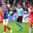 Olivier Giroud et Antoine Griezmann lors du match de football France- Andorre (3-0) pour les qualifications de l'Euro 2020 au Stade de France à Saint-Denis le 10 septembre 2019. © Philippe Lecoeur/Panoramic/Bestimage