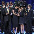 Paris et les frères et soeurs Jackson au Staples Center
