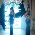 """Ariana Grande, Miley Cyrus et Lana Del Rey dans le clip de """"Don't Call Me Angel"""", bande originale du film Charlie's Angels, le 13 septembre 2019."""