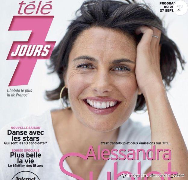 Alessandra Sublet en couverture de Télé 7 Jours, le 16 septembre 2019.