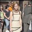 Emma Watson arrive dans les studios du Late Show with David Letterman le 8 juillet 2009 à New York