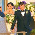 Mariage de Nick Carter et Lauren Kitt à Santa Barbara, le 12 avril 2014.