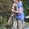 Karen Meyers - Exclusif - La mère de Mac Miller reçoit la visite des membres de la famille à Pittsburgh en Pennsylvanie, le 14 septembre 2018