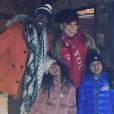 Nick Cannon, Mariah Carey et leurs jumeaux Monroe et Moroccan, fêtent Noël à Aspen (Colorado). Décembre 2018.