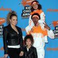 Mariah Carey et Nick Cannon avec leurs jumeaux Monroe et Moroccan aux Nickelodeon Kids' Choice Awards organisés à Inglewood, Californie, le 24 mars 2018.