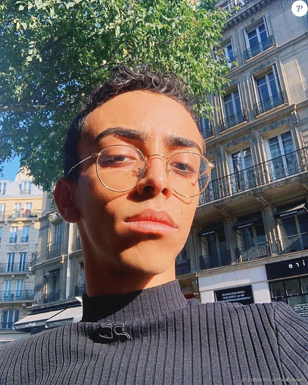 Bilal Hassani prend la pose sur Instagram, le 23 septembre 2019 à Paris.