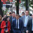 Le président de la République française Emmanuel Macron se balade lors de la 74ème assemblée générale de l'organisation des Nations-Unis (ONU) à New York City, New York, Etats-Unis, le 24 septembre 2019. © Morgan Dessalles/Bestimage