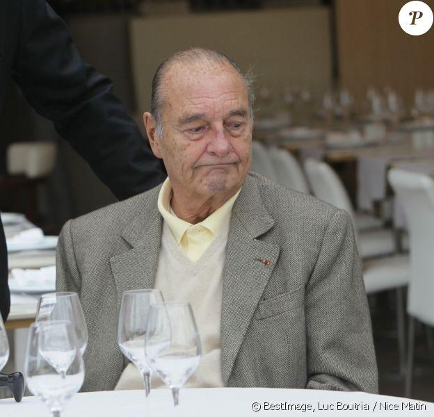 Jacques Chirac au restaurant à Saint Tropez le 4 octobre 2013