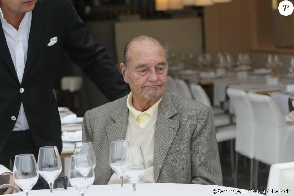 Jacques Chirac a u restaurant à Saint Tropez le 4 octobre 2013