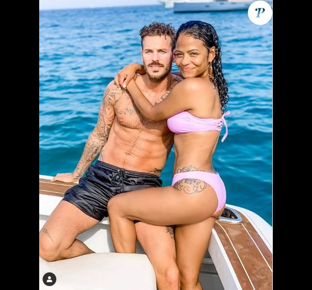 M. Pokora et Christina Milian le 26 septembre 2019 sur Instagram.