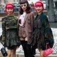 """Amiaya et Yulia Chan - Arrivées au défilé de mode PAP printemps-été 2020 """"Miu Miu à Paris. Le 1er octobre 2019 © Veeren Ramsamy-Christophe Clovis / Bestimage"""