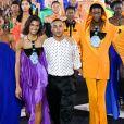 """Olivier Rousteing lors du défilé Balmain """"Collection Prêt-à-Porter Printemps/Eté 2020"""" lors de la Fashion Week de Paris (PFW), le 27 septembre 2019."""
