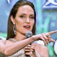 """Angelina Jolie à la première du film """"Maléfique : Le Pouvoir du mal"""" au Roppongi Hills Arena à Tokyo, Japon, le 3 octobre 2019."""